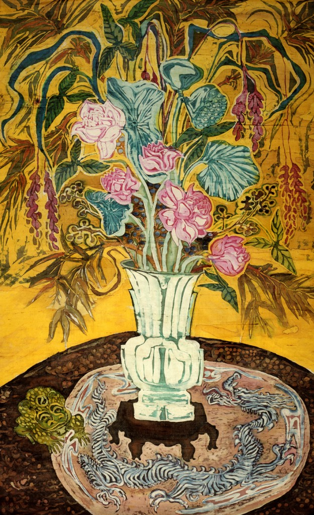 "Tang Vase with Lotuses 2006 40"" X 30"""